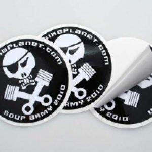 Stickers en OPP blanco