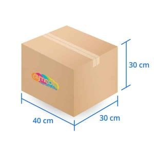 Caja Carton Doble Triple Extra Dura 40X30X30 cms