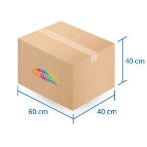 Caja Carton Doble Triple Extra Dura 60X40X40 cms