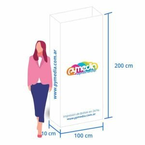 Totem 2 X 1 Rectangular Carton Microcorrugado